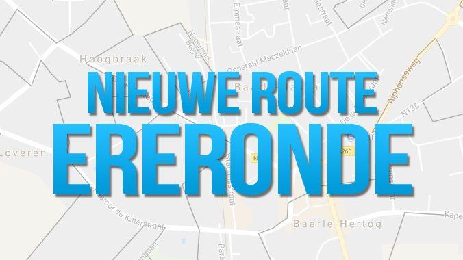 Aangepaste Route Ereronde Zaterdag!